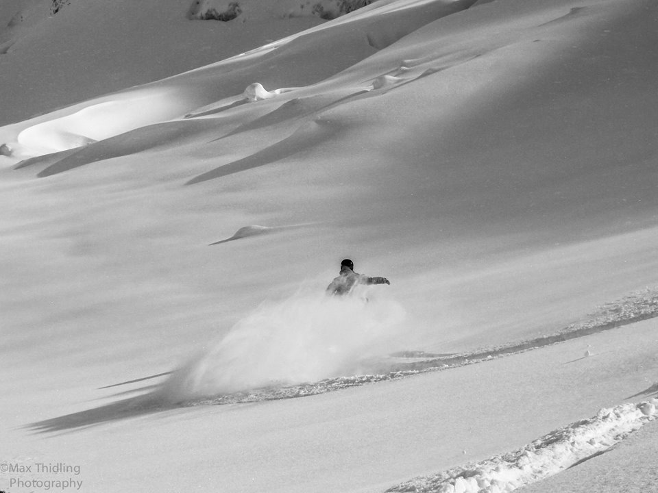 Powder field in Pitztal Austria. Shot by Max Thidling