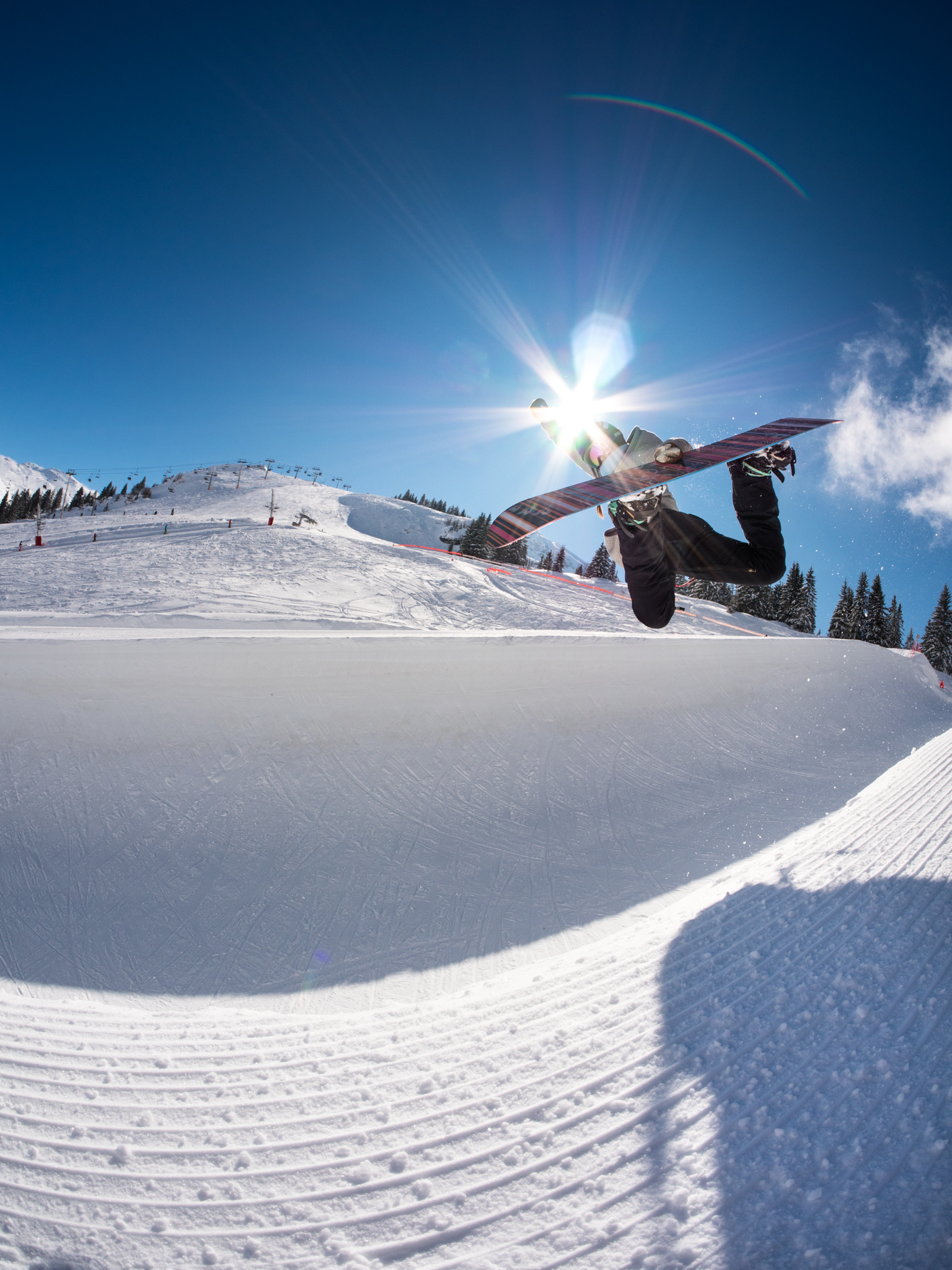 Backside air in Avoriaz shot by Max Thidling